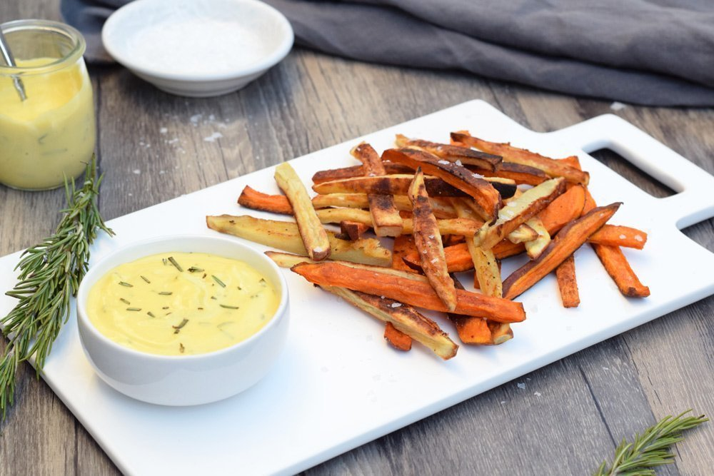 Rosemary Garlic Sweet Potato Fries Recipe — Dishmaps
