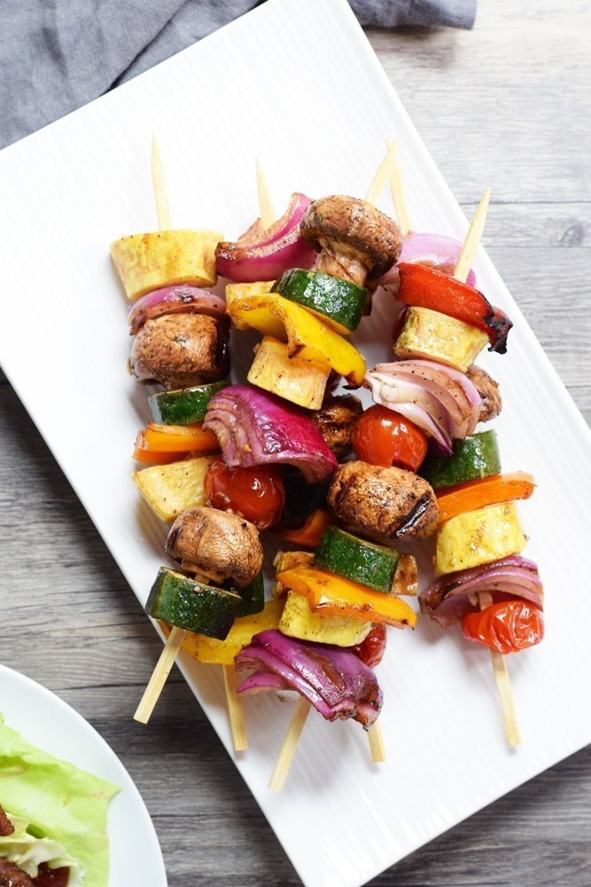 Balsamic Grilled Veggie Kabobs Living Loving Paleo