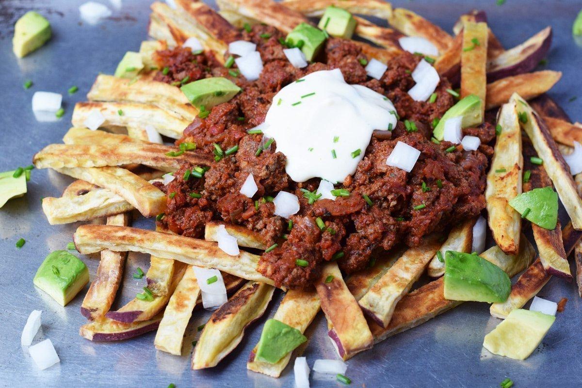 fries chili paleo beef ground recipes loaded using recipe web livinglovingpaleo