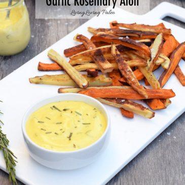 Crispy Sweet Potato Fries With Garlic Rosemary Aioli