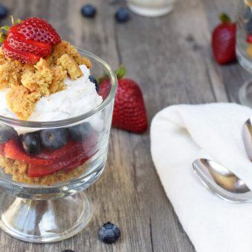 Red, White & Blueberry Shortcake Parfaits