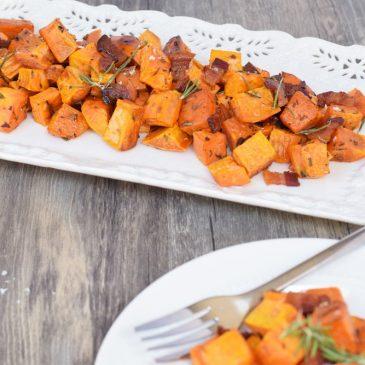 Bacon & Rosemary Roasted Sweet Potatoes