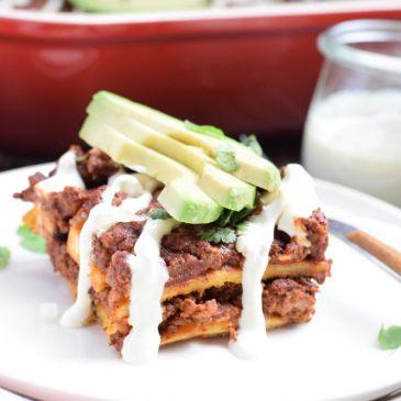 Plantain Enchilada Casserole