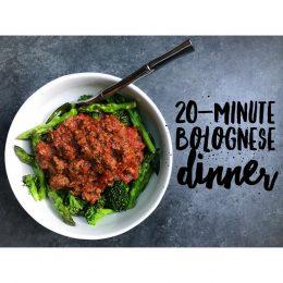 20-minute Bolognese & Veggies