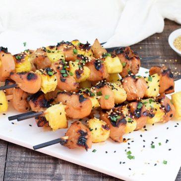 Teriyaki Pineapple Chicken Kabobs