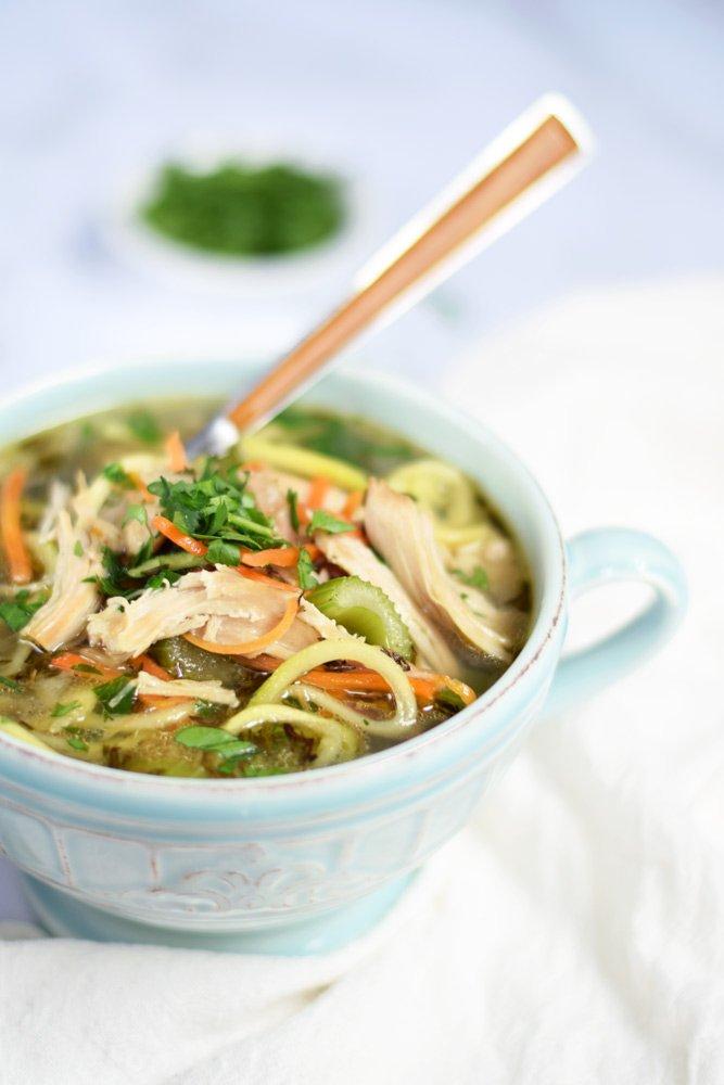 Instant Pot Chicken Zoodle Soup