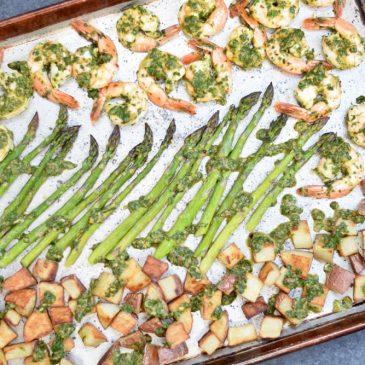Chimichurri Shrimp, Asparagus & Potato Sheet Pan Meal