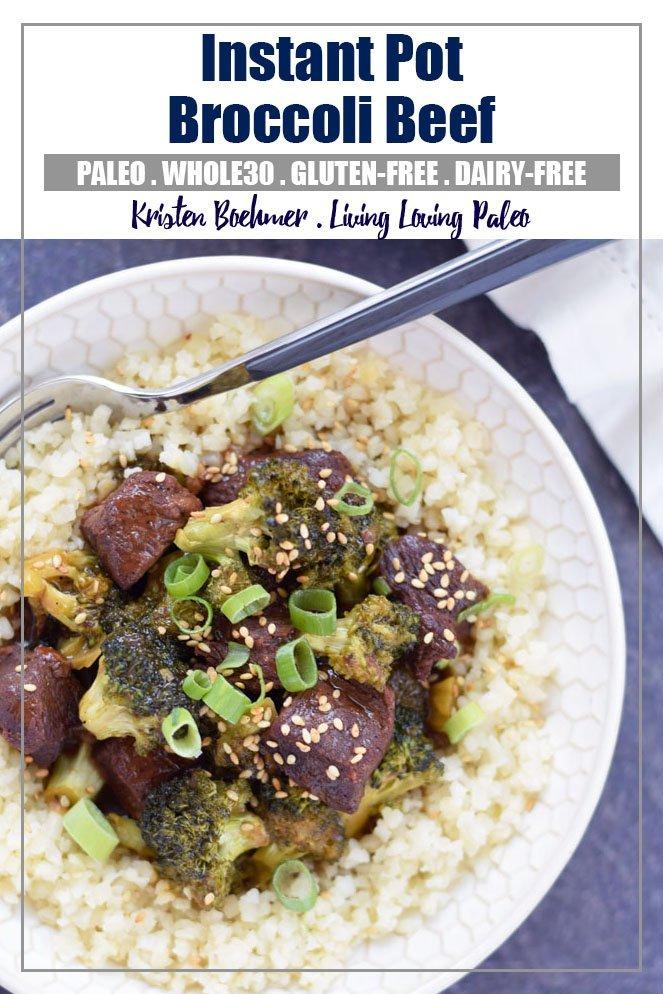 Instant Pot Beef & Broccoli