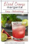 margarita made with blood orange juice